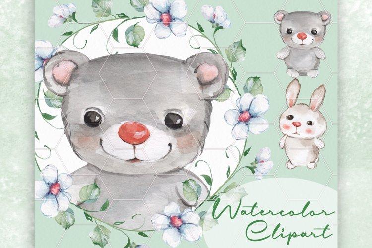 Baby animals. Watercolor example image 1