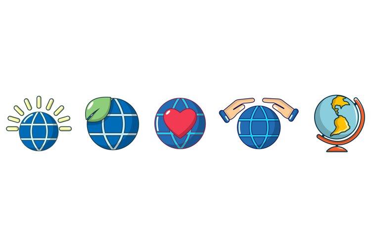 Global icon set, cartoon style example image 1