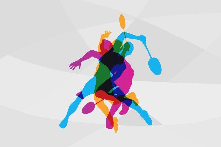 Modern Badminton Logo Vector