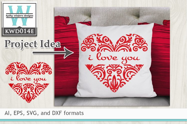 Valentines SVG - Heart example image 1