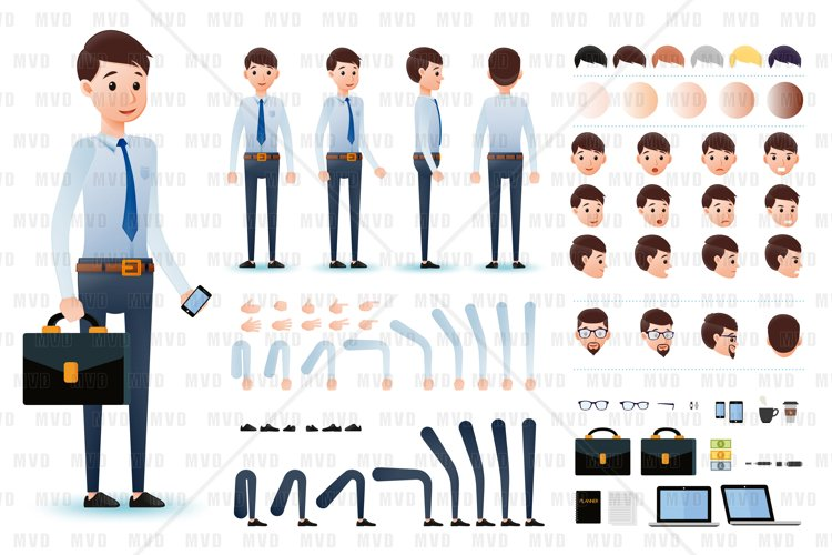 Male Clerk Character Creation Kit Template