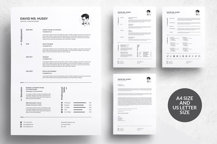 3 Pages Resume Template
