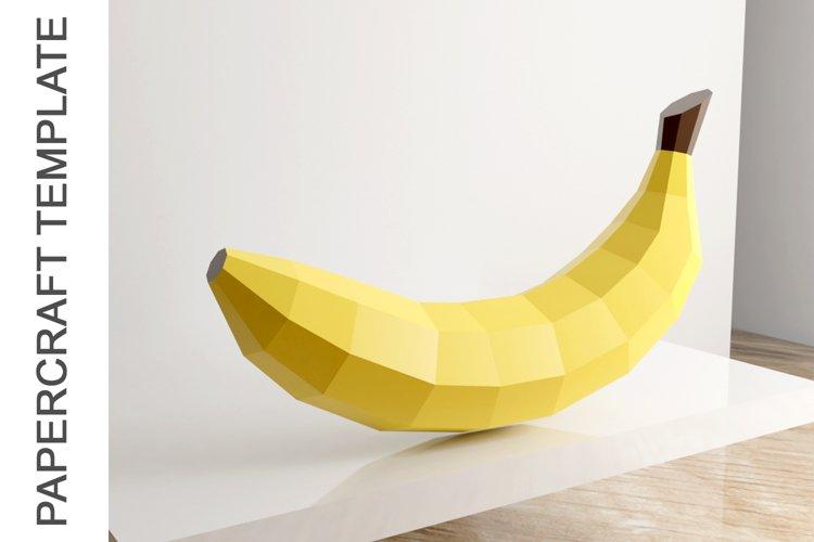 PDF Template of Banana fruit papercraft template /3d craft example image 1