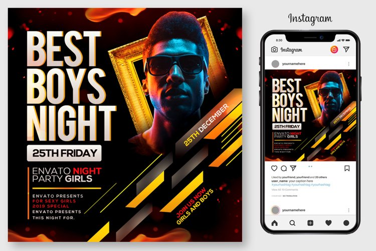 Dj Party Flyer Template example image 1