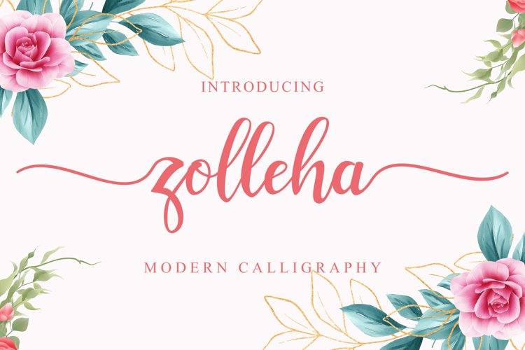 Zolleha - Beautiful Script Font
