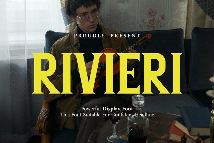Web Font Rivieri Display Font example image 1