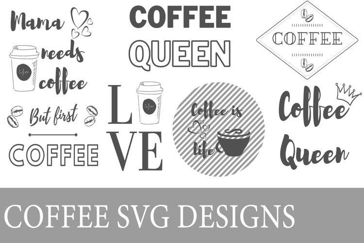 Coffee SVG designs example image 1