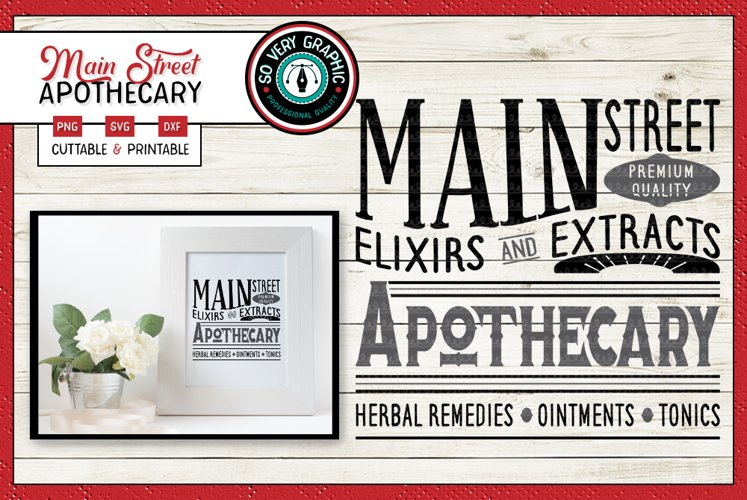 Main Street Apothecary | SVG | PNG | Vintage Farmhouse