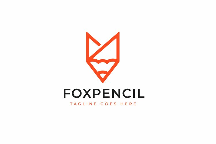 Fox Pencil Logo Design example image 1