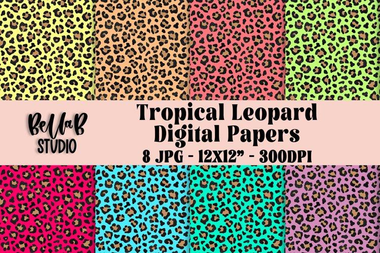 Tropical Leopard Digital Papers, Digital Paper Pack