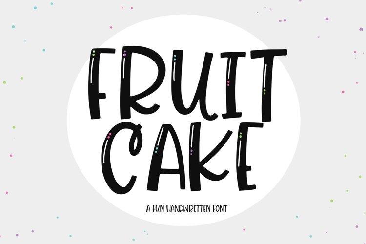 Fruit Cake - A Handwritten Font example image 1