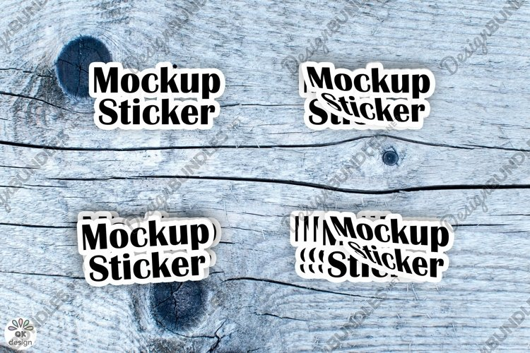 Sticker Mockup set. PSD file.