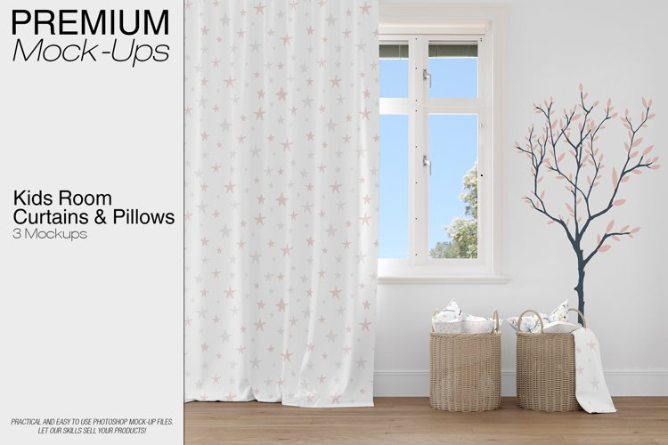 Kids Room - Curtain Pillows Wall example image 1