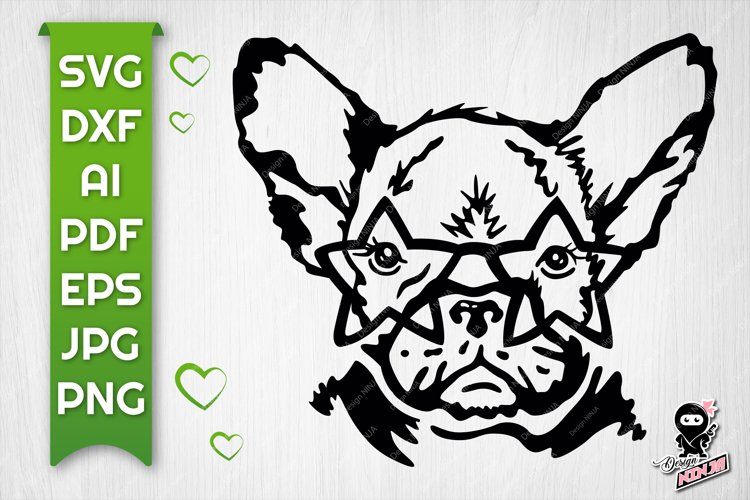 Dog with Star Glasses | SVG, AI, Dxf & Png Cut file example