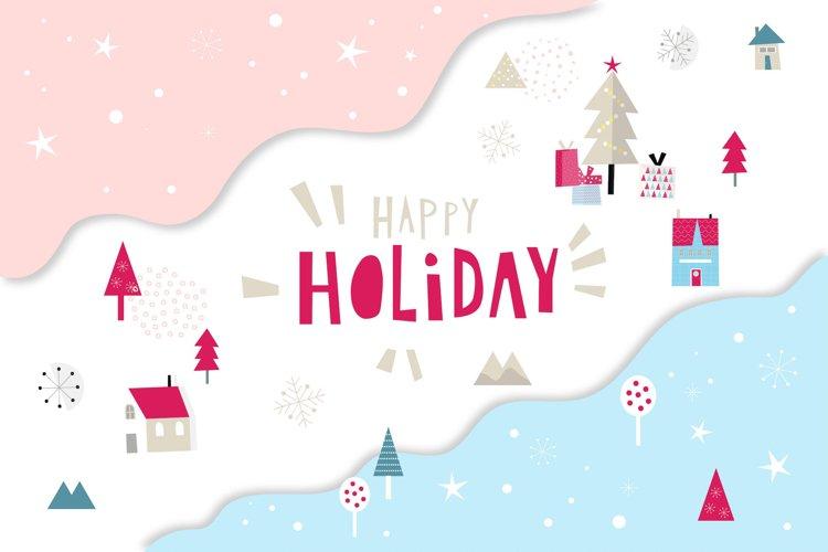 Happy Flat Holiday! Design Kit example image 1