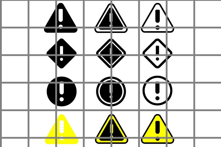 Exclamation or danger sign SVG set for cut. example image 1