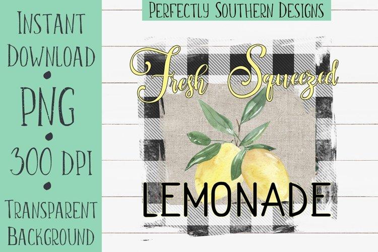 Fresh Squeezed Lemonade - Sublimation Design