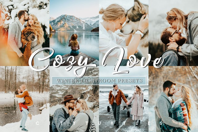Winter COZY LOVE Warm Tone Couple Portrait Lightroom Presets example image 1