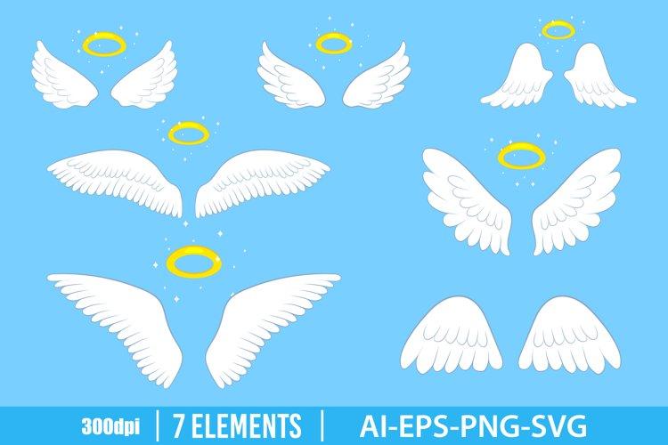 Angel wings clipart vector design illustration