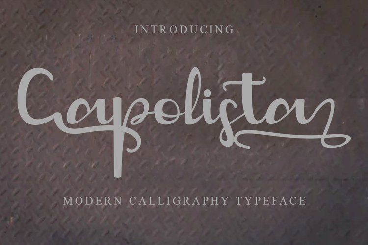Capolista Modern Calligraphy Typeface example image 1
