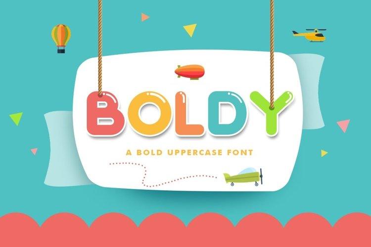 Web Font Boldy example image 1