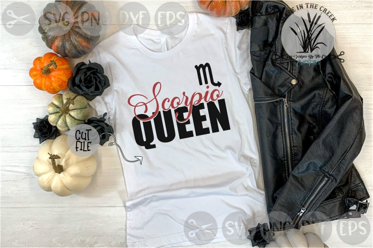 Scorpio, Queen, Birth Sign, Zodiac, Cut File, PNG, SVG example image 1