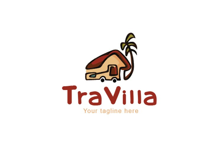 Traveller - Travel Cottage Stock Logo Template example image 1