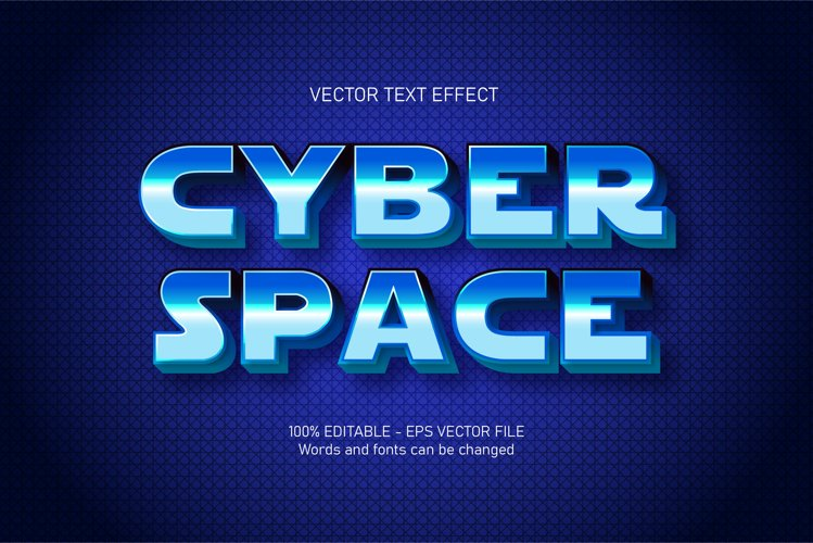 Cyber space text, cyberpunk style editable text effect example image 1