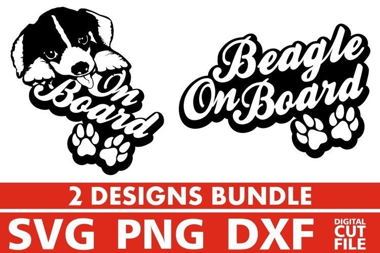 2x Beagle On Board Bundle svg, Dog Breed svg, Dog on Board example image 1
