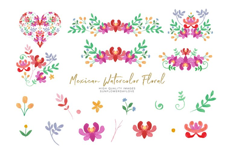 Mexican Flower Red Floral clipart, Flowers Fiesta clip art,