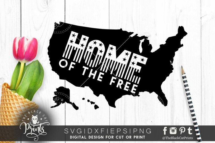 Home of the free Usa Map SVG PNG EPS DXF