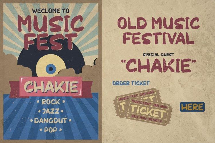 Chakie - Retro Brush Fonts example image 1