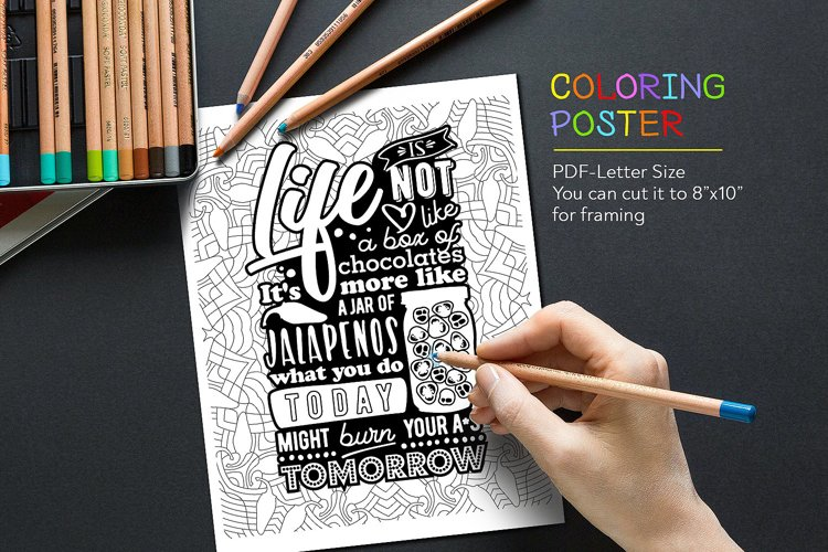 Coloring Quote example image 1