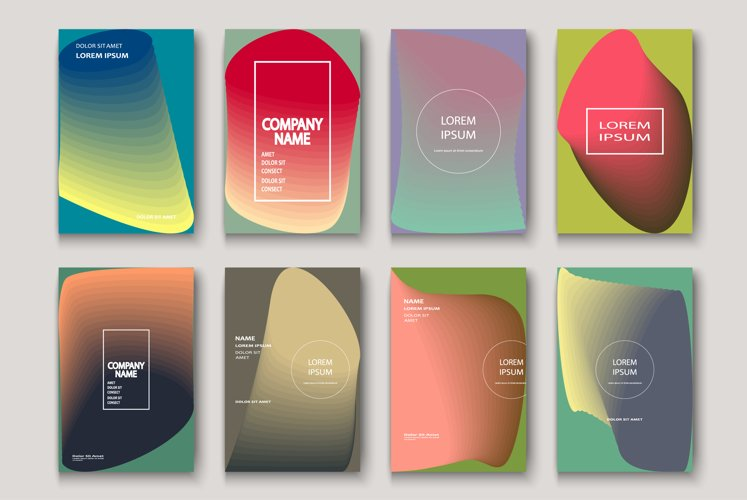 Trendy cool neon abstract modern book covers geometric example image 1