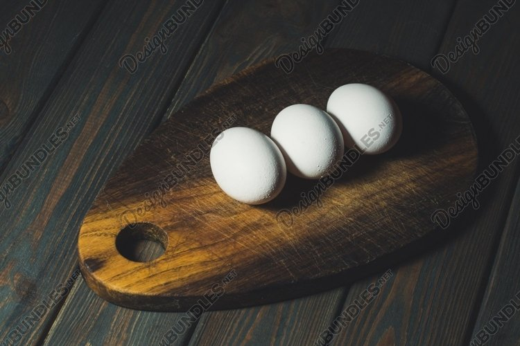 White Easter Eggs and Rustic Kitchen example image 1
