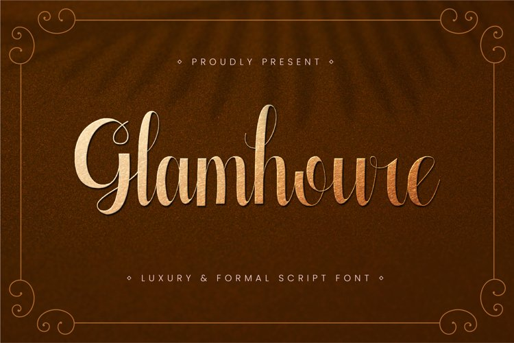 Glamhoure - Luxury and Formal Script Font example image 1