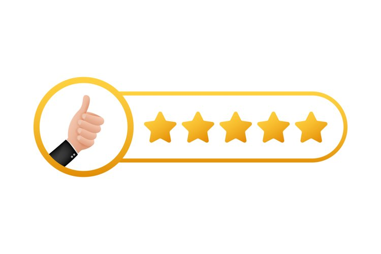 Thumbs up. Customer evaluation. Customer review rating. example image 1