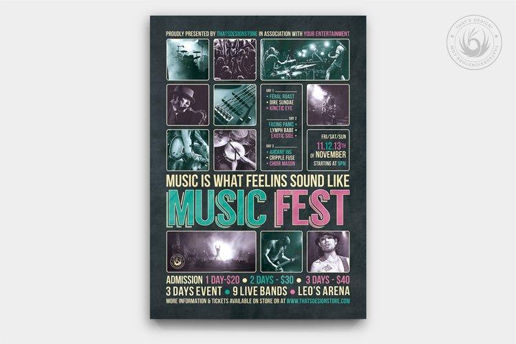 Music Festival Flyer Template V8 example image 1