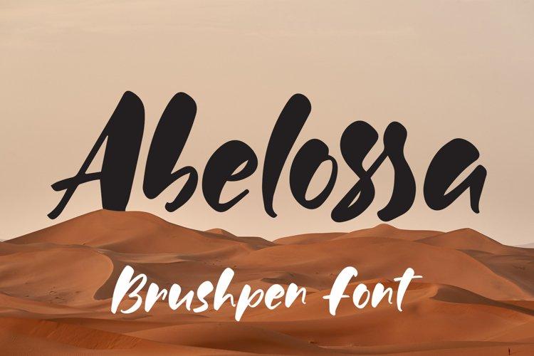 Abelossa - Brushpen Font example image 1