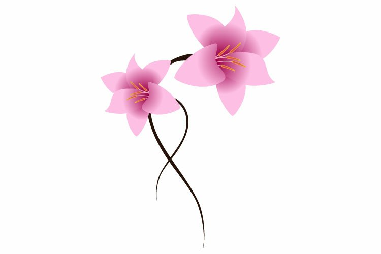 Floral background with lilies. example image 1