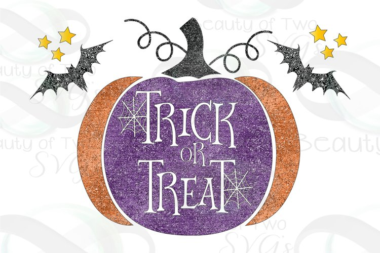 Halloween Grunge Trick or Treat Sublimation Design png 300 example image 1