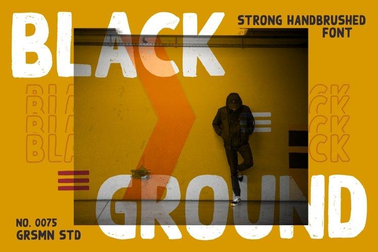Black Ground - Display Font example image 1