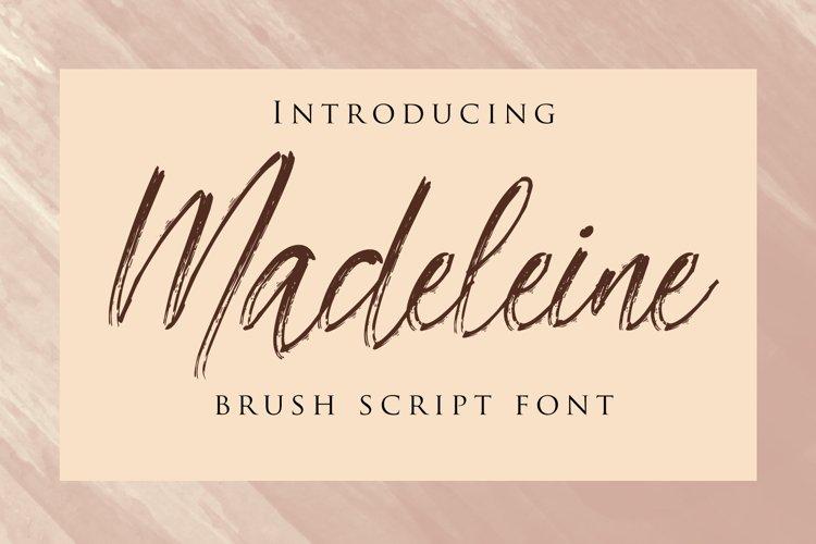 Madeleine - Brush Script Font example image 1