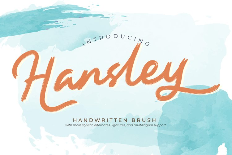 Hansley | Handwritten Brush example image 1