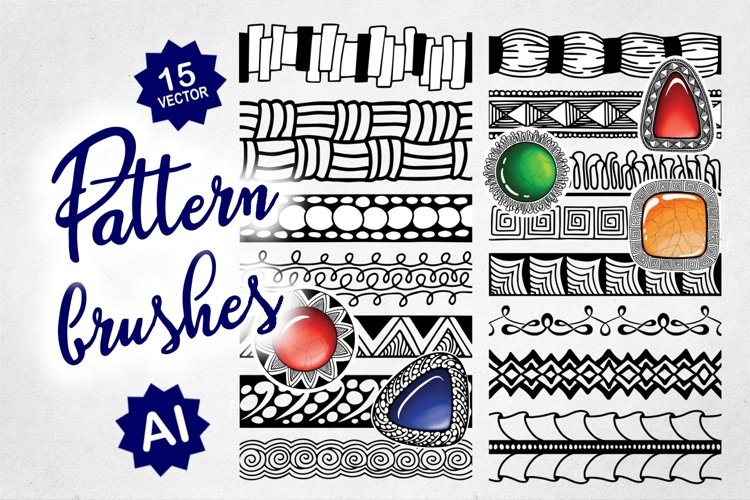 Creative Pattern Brush Set for Adobe Illustrator