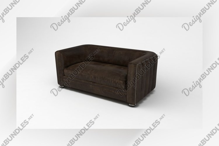 Modern sofa side view furniture 3d rendering example image 1