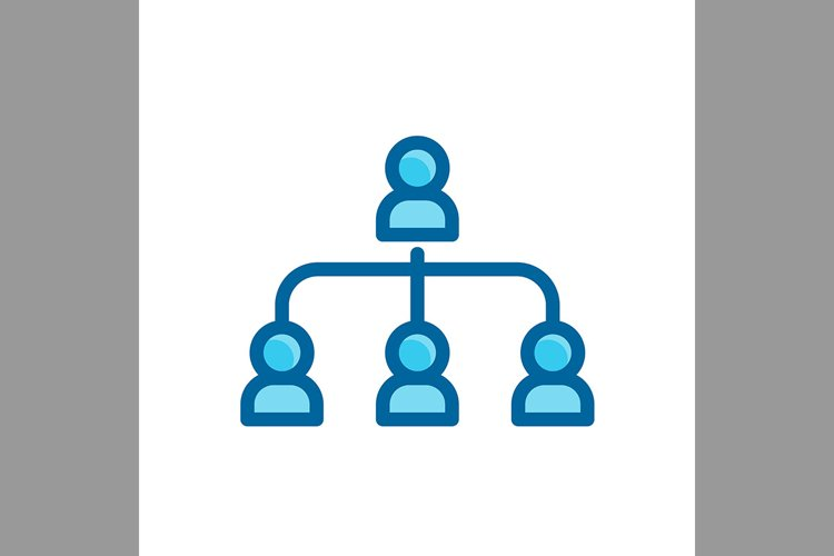 leadership connection, community symbol blue color, Vector I example image 1