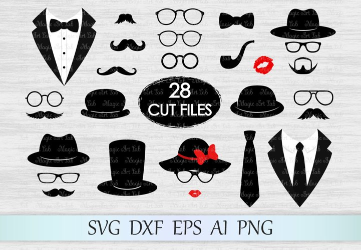Photo booth props svg, Mustaches svg, Glasses svg, Tuxedo svg, Hats svg, Smoking pipe svg, Retro svg, Lips svg, Tuxedo clipart, Gentleman svg
