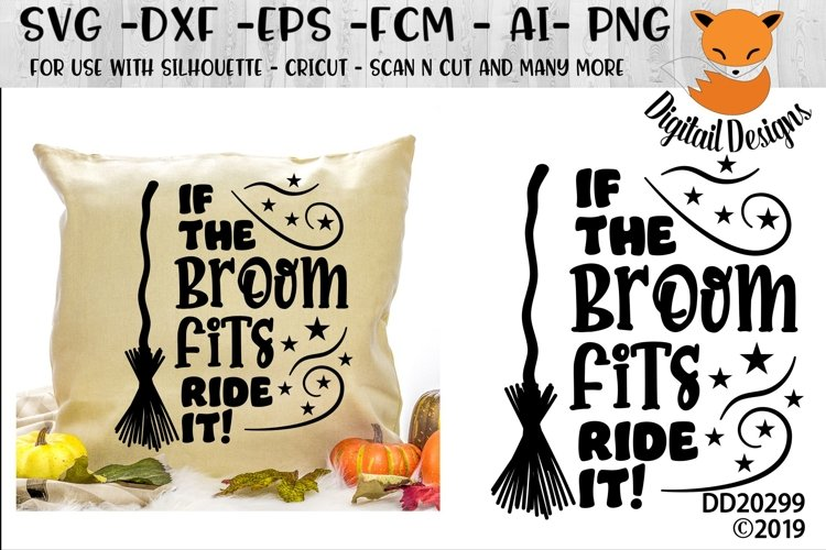 If The Broom Fits Ride It Halloween SVG