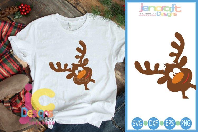 Peeking Boyl Reindeer SVG - Christmas SVG cut file